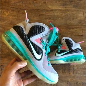 Nike Lebron 9 Elite South Beach | sz 4.5Y| OBO